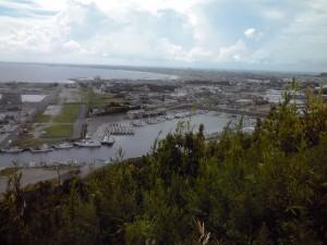 飯岡灯台から眺めた旭